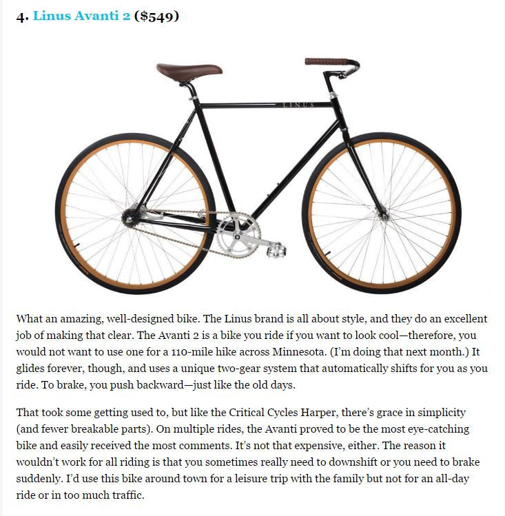 Paste Magazine - 5 Bikes Tested in 10 Days
