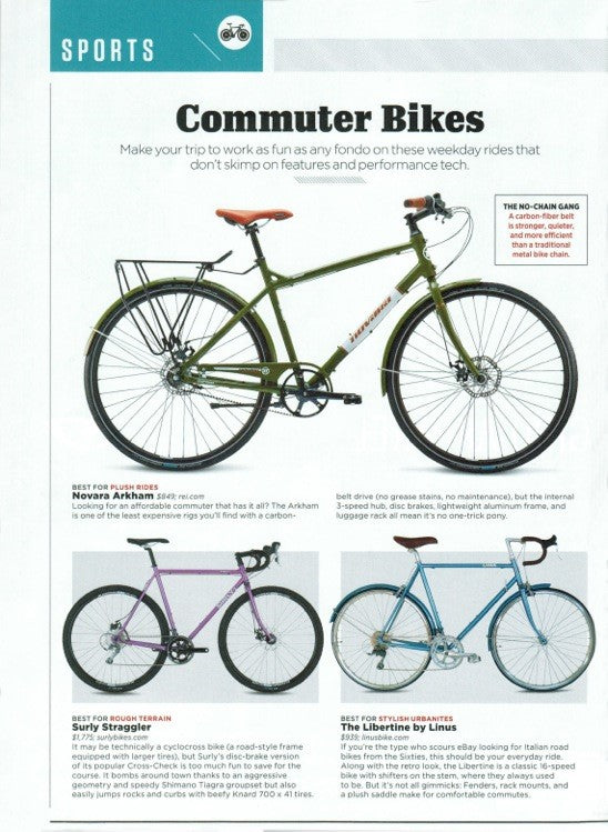 menu0027s journal featured our newest bike the libertine as the best commuter bike for stylish urbanites