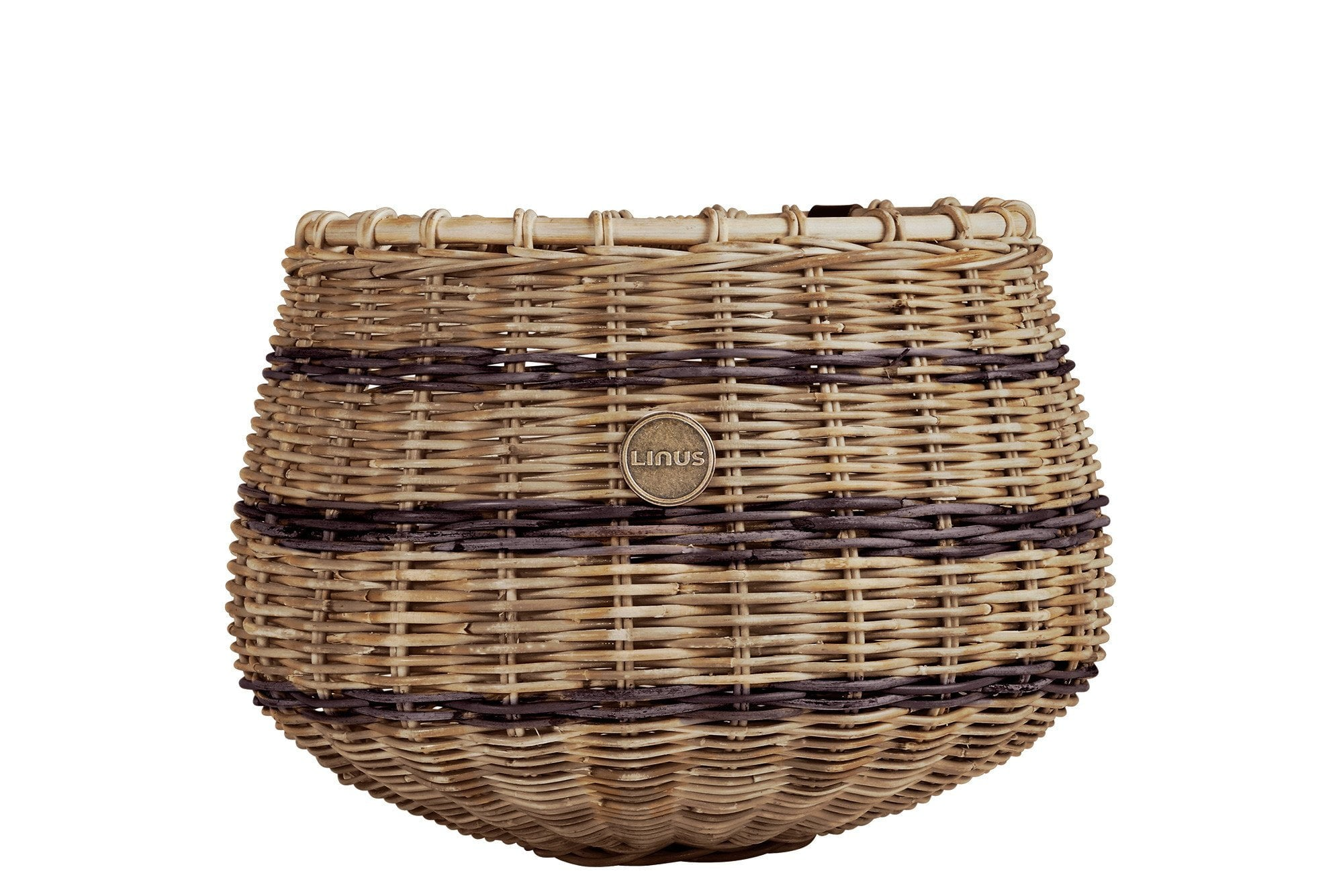 Wicker Bike//Bicycle Basket Vintage Colour Leather Straps Traditional D Shape
