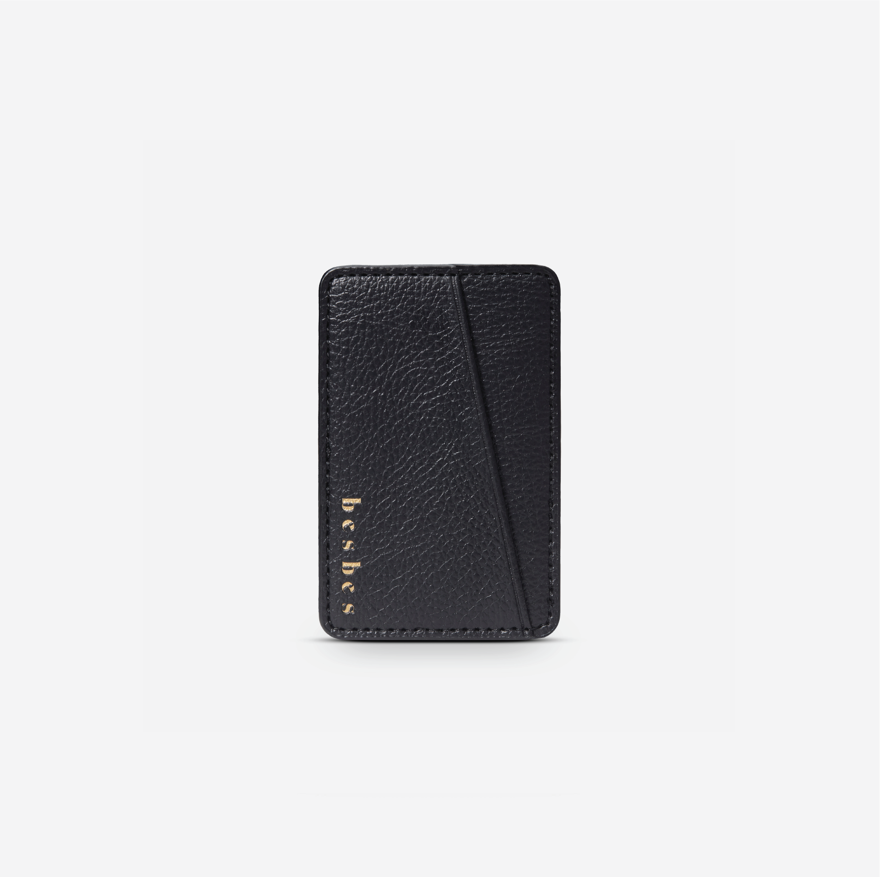 Ebony Black Vegan Leather Pocket
