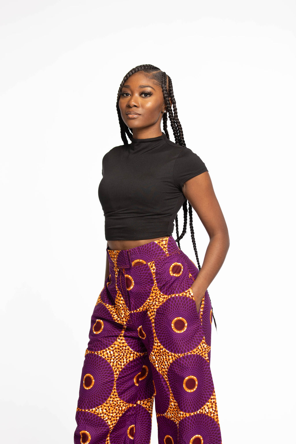 Celina African print pants