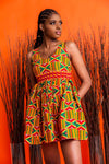 Ajo Mini African Print dress