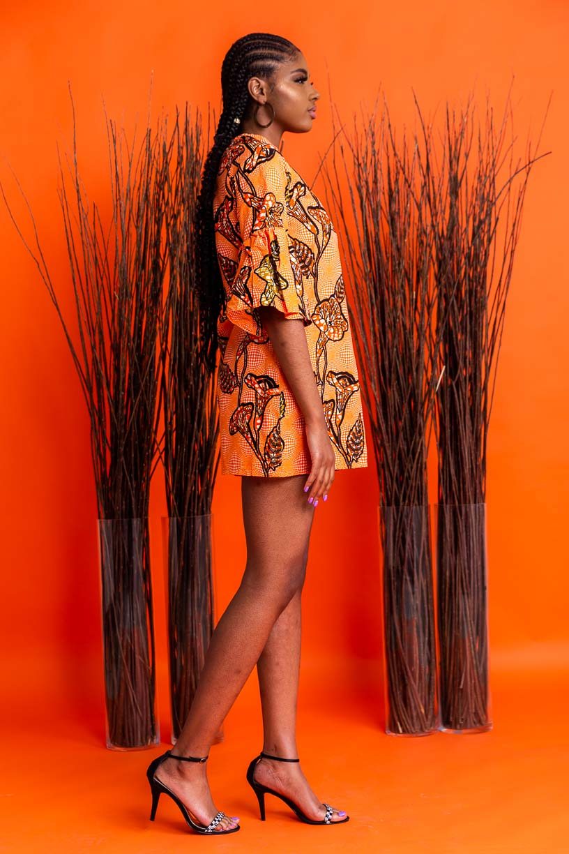 Effia Shift African Print dress