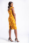 Haniah Midi African Print dress