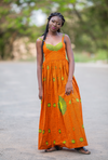 Zuhrah Maxi African Print Dress
