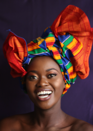 Blue Kente Headwrap