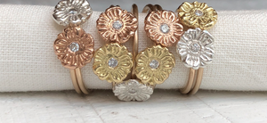 Gold Dainty Flower Rings MAS Designs Jewelry