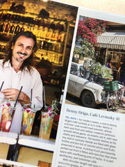 Beny Briga of Cafe Levinsky in Tel Aviv wears a Red String Bracelet from MAS Designs. As seen in Israeli Soul by Michael Solomonov.