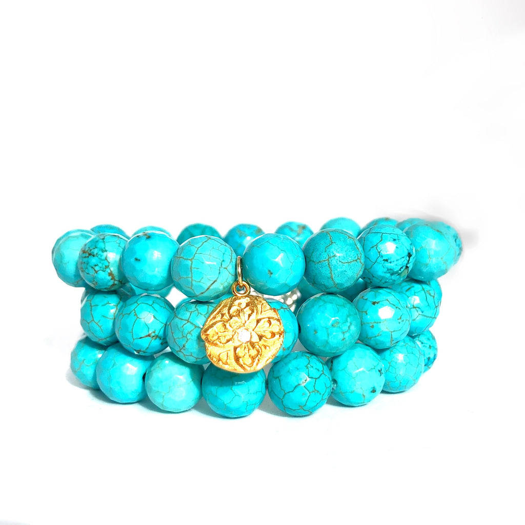 turquoise beaded bracelet MAS Designs Jewelry