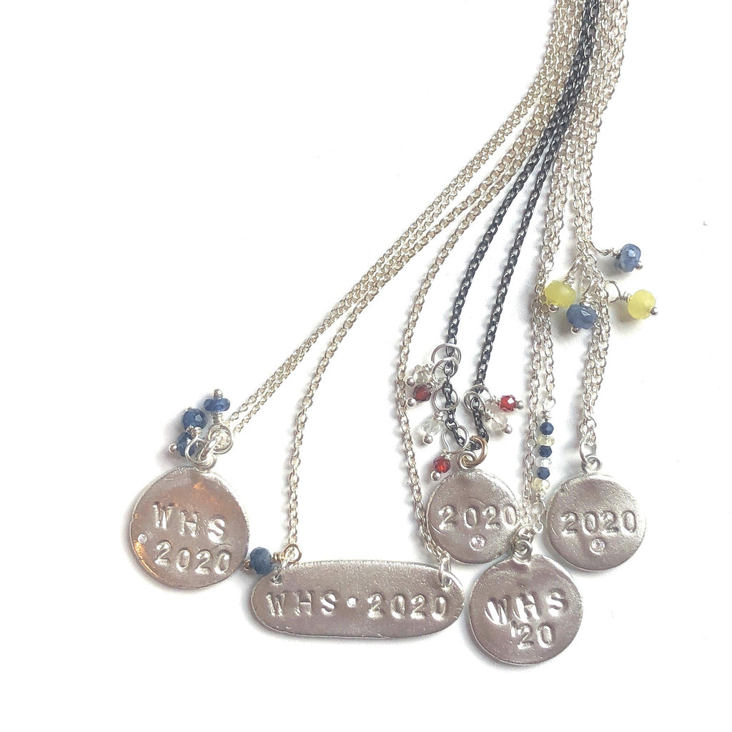 2020 Graduate Charm Necklace Silver or Gold - MAS Designs