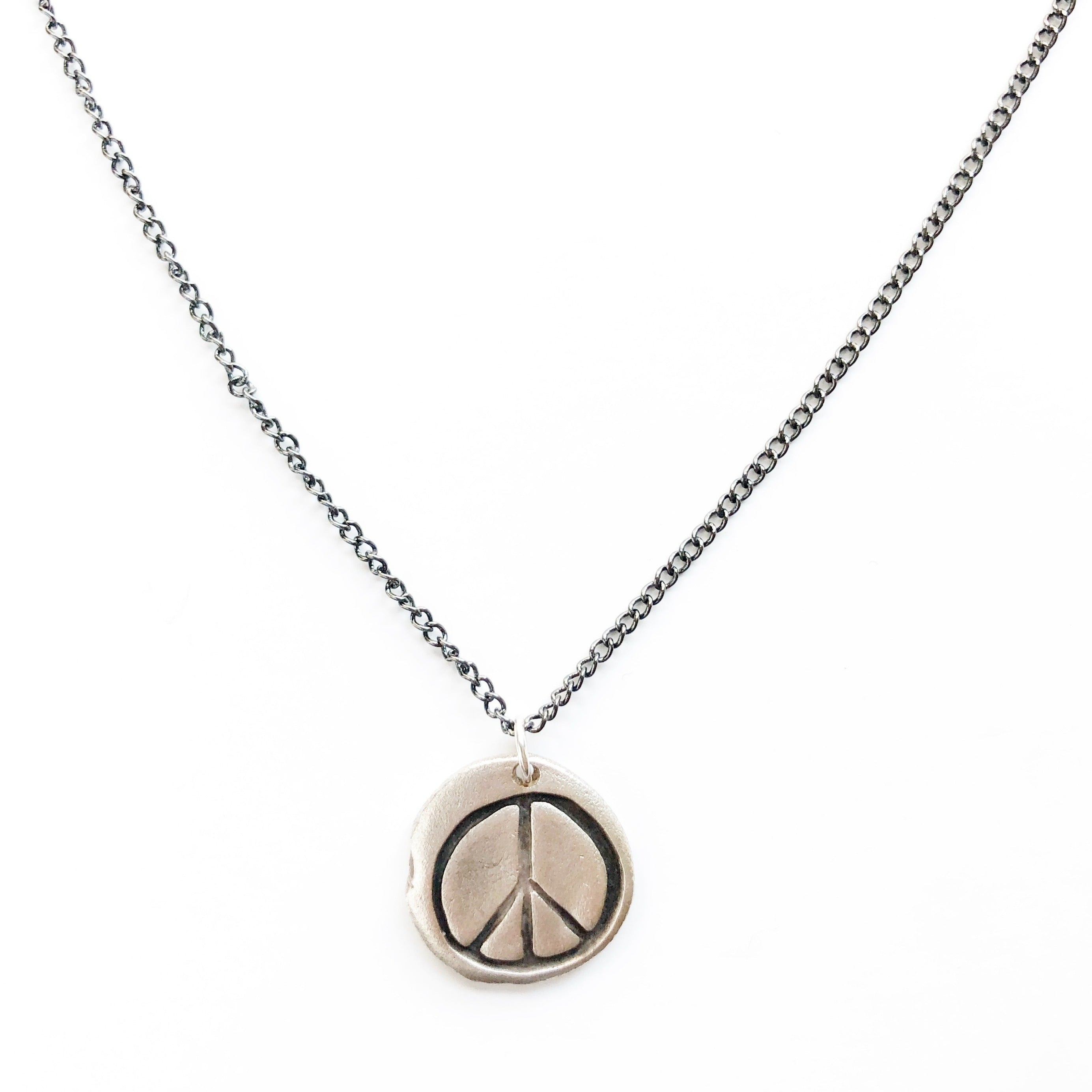One-of-a-kind-silver-peace-sign-charm-necklace-MAS-Designs-Jewelry