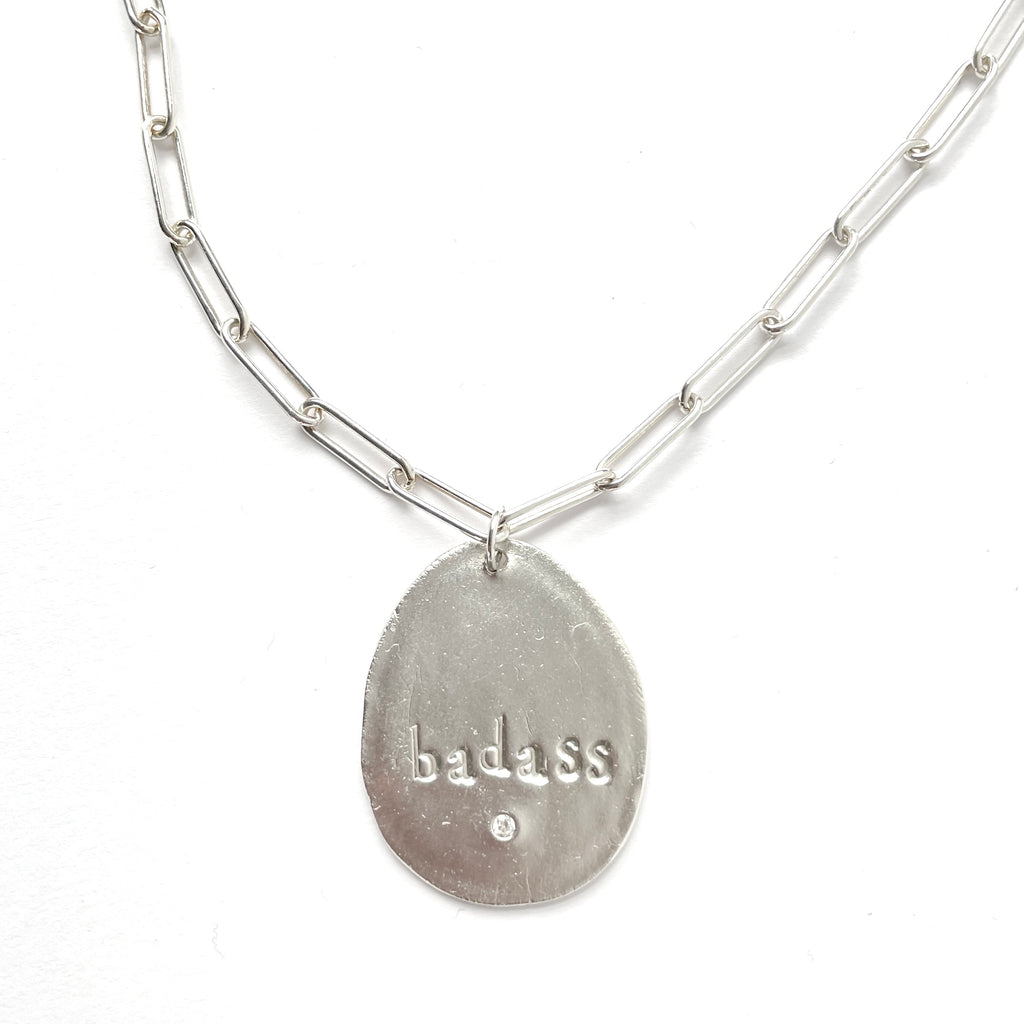Badass Charm Necklace Silver