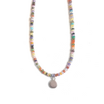 Crystal Beaded Necklace Silver - MAS Designs