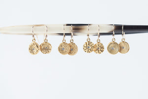 Ring Around The Rosie Hanging Earrings Gold - MAS Designs