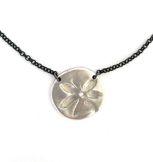 Big-Flower-In-Bloom-Charm-Necklace-Silver-MAS-Designs-Jewelry