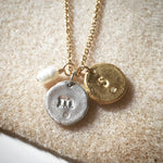 Initial Letter Charm Necklace Charm Gold - MAS Designs