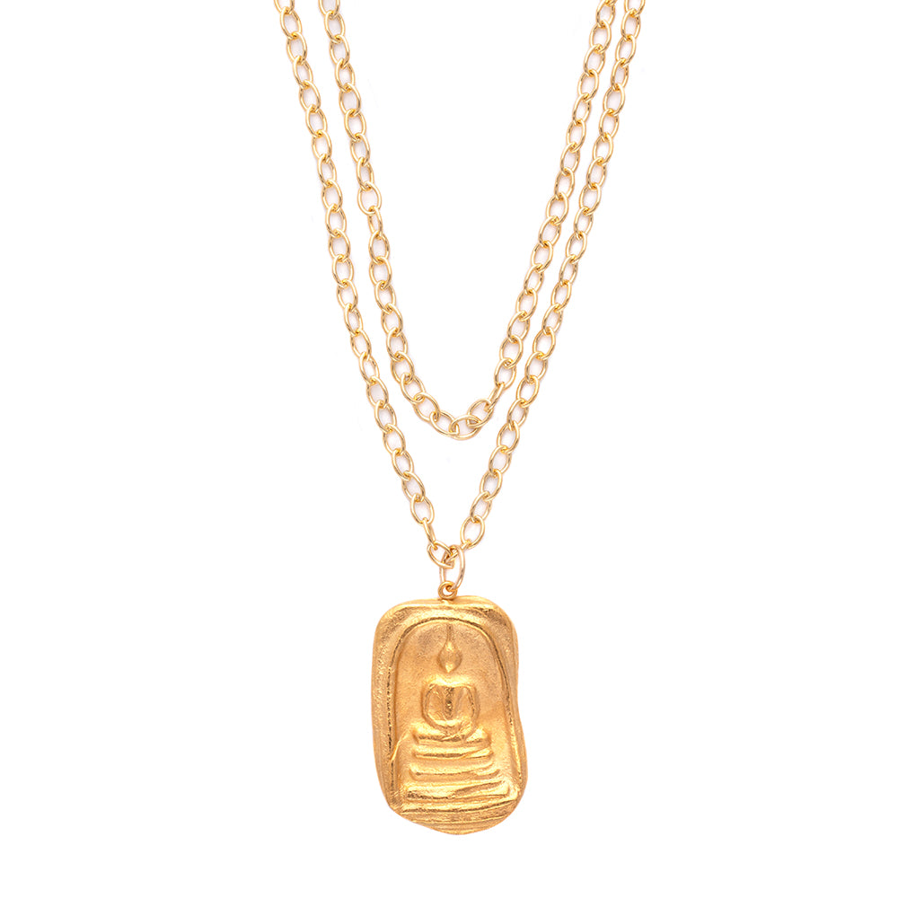 Big Buddha Charm Necklace Charm Gold - MAS Designs