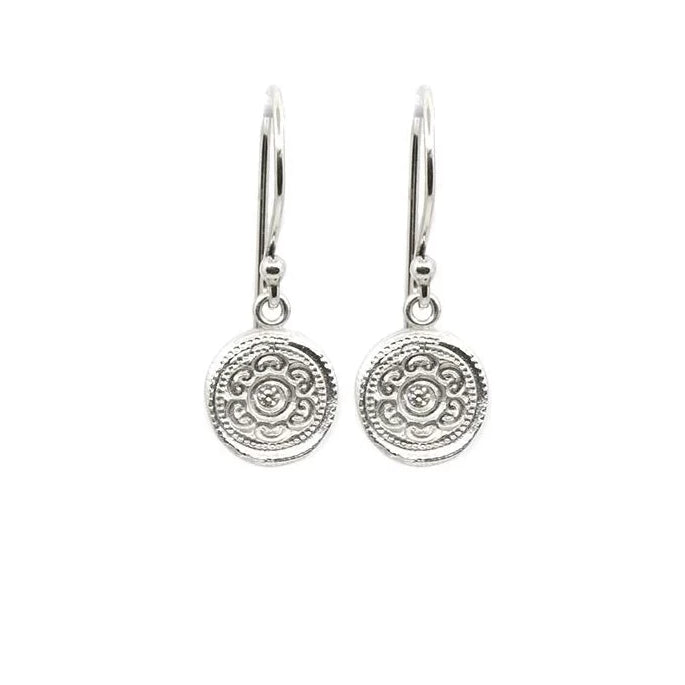 Circles of Life Hanging Earrings Silver - MAS Designs