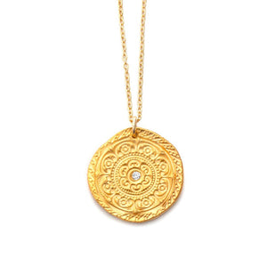 Circles of Life Charm Necklace Gold - MAS Designs