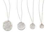 Circles of Life Charm Necklace Silver - MAS Designs