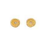 Circles of Life Diamond Stud Earrings Gold - MAS Designs