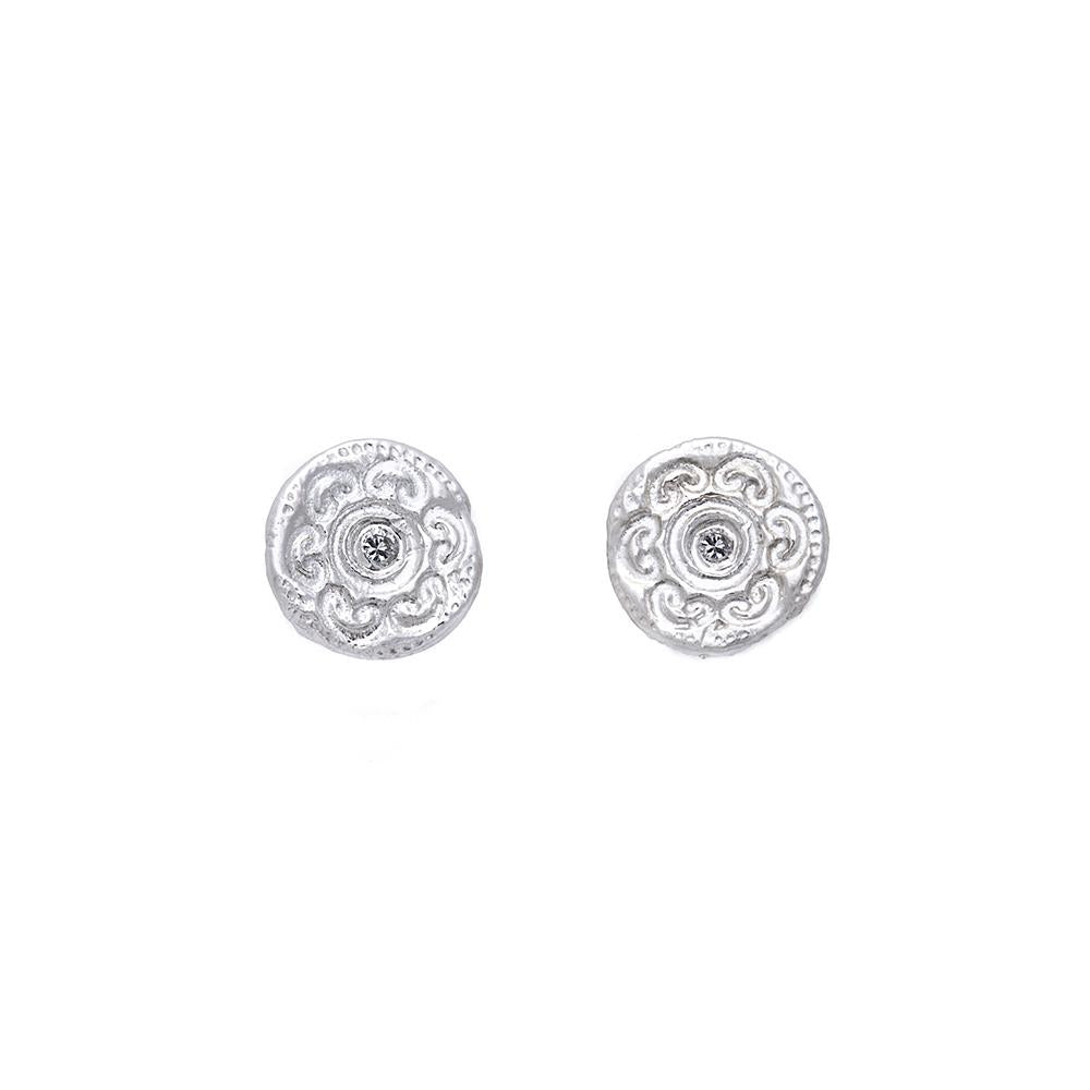 Circles of Life Diamond Stud Earrings Silver - MAS Designs