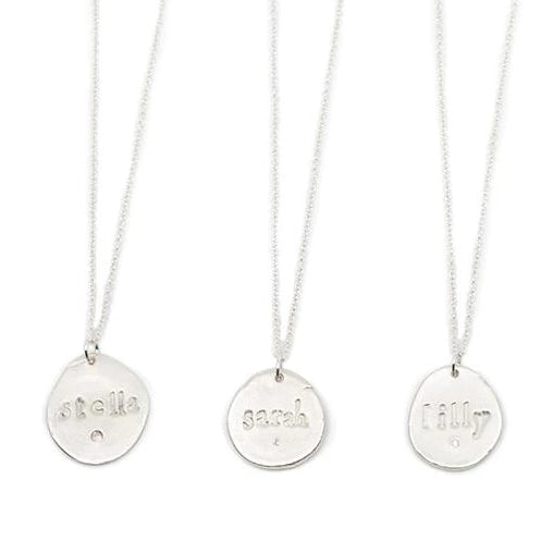 Custom Name Charm Necklace Silver - MAS Designs