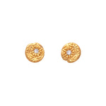 Flower of Life Diamond Stud Earrings Gold - MAS Designs