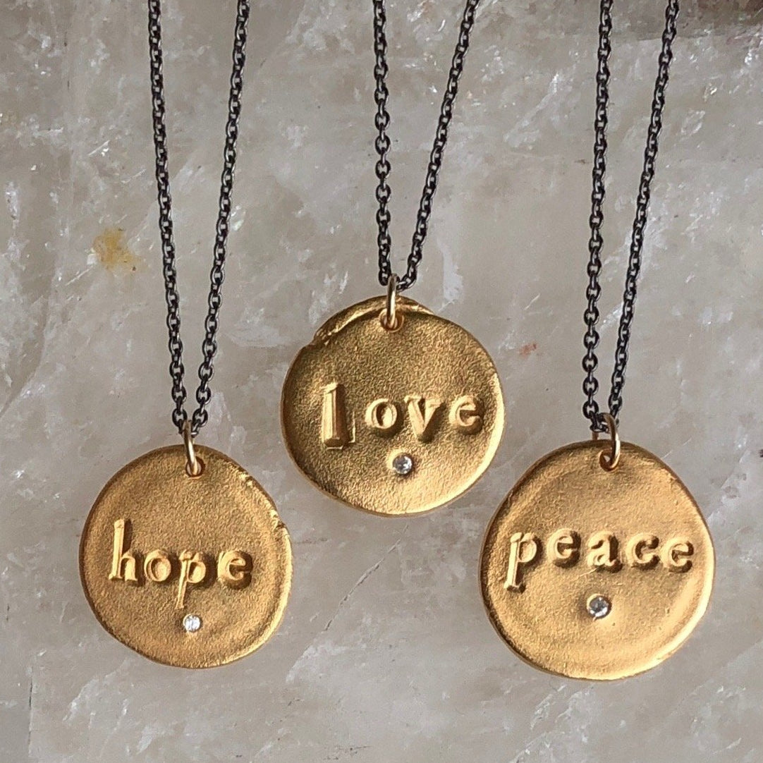 Peace Charm Necklace Silver - MAS Designs