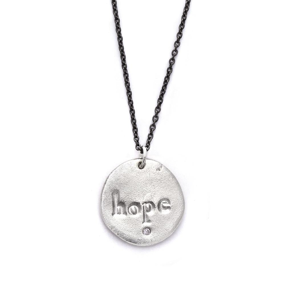 Hope Charm Necklace Silver - MAS Designs