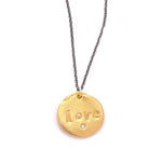 Love Charm Necklace Gold