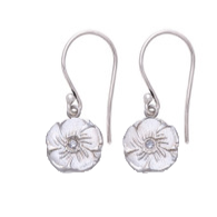 Magnolia Hanging Earrings Silver - MAS Designs