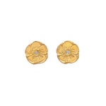 Magnolia Diamond Stud Earrings Gold - MAS Designs