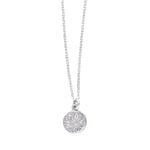 Mod Flower Charm Necklace Silver - MAS Designs