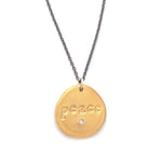 Peace Charm Necklace Gold - MAS Designs