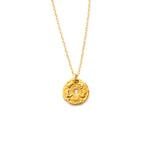 Pretty Flower Charm Necklace Gold
