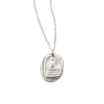 Quiet Buddha Charm Necklace Silver - MAS Designs