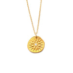 Radiant Sun Charm Necklace Gold - MAS Designs