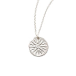 Radiant Sun Charm Necklace Silver - MAS Designs