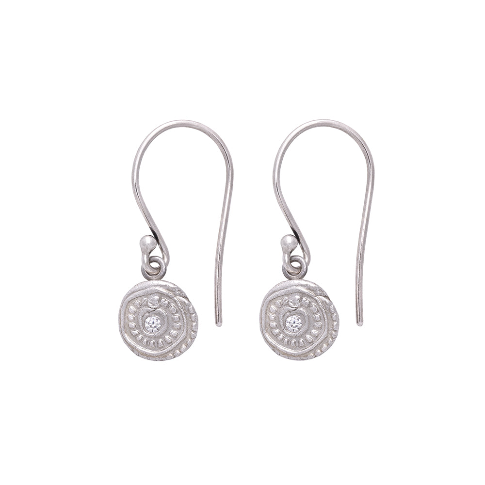Ring Around The Rosie Hanging Earrings Silver - MAS Designs