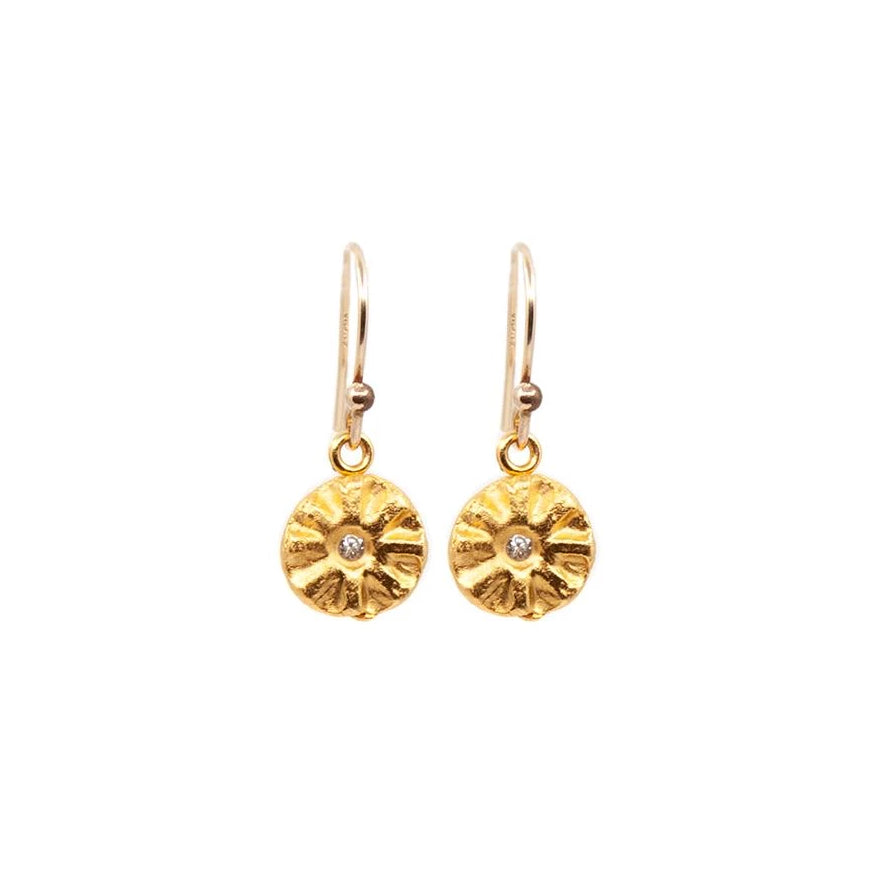 Sparks of Joy Hanging Earrings Gold - MAS Designs