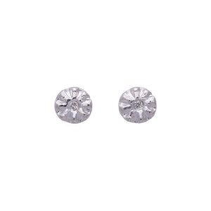 Sparks of Joy Diamond Stud Earrings Silver - MAS Designs
