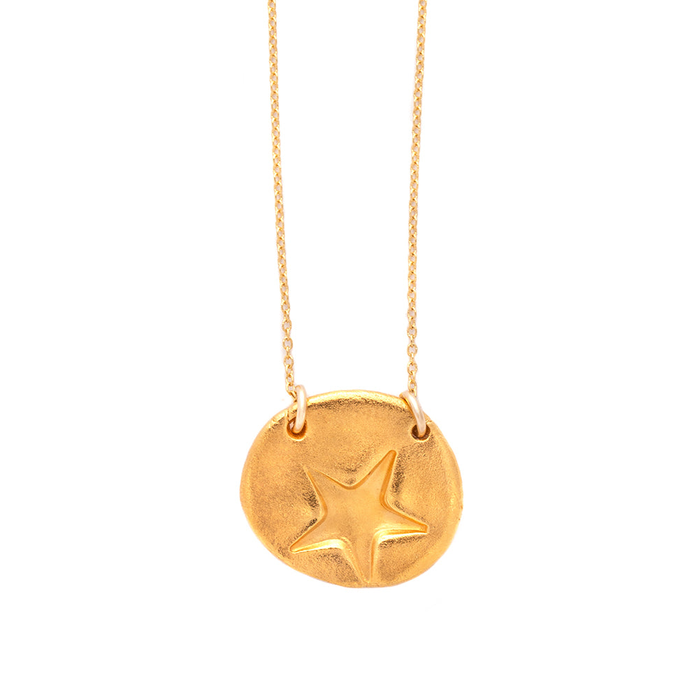 Star Charm Necklace Gold - MAS Designs