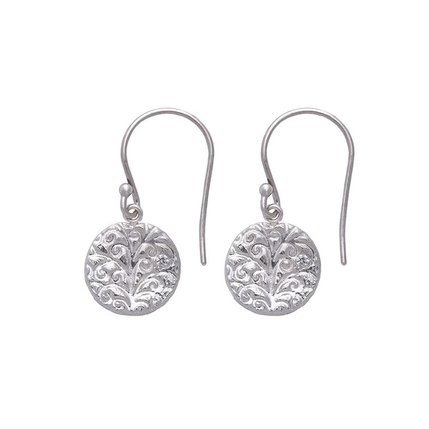 Tree of Life Hanging Earrings Silver 1