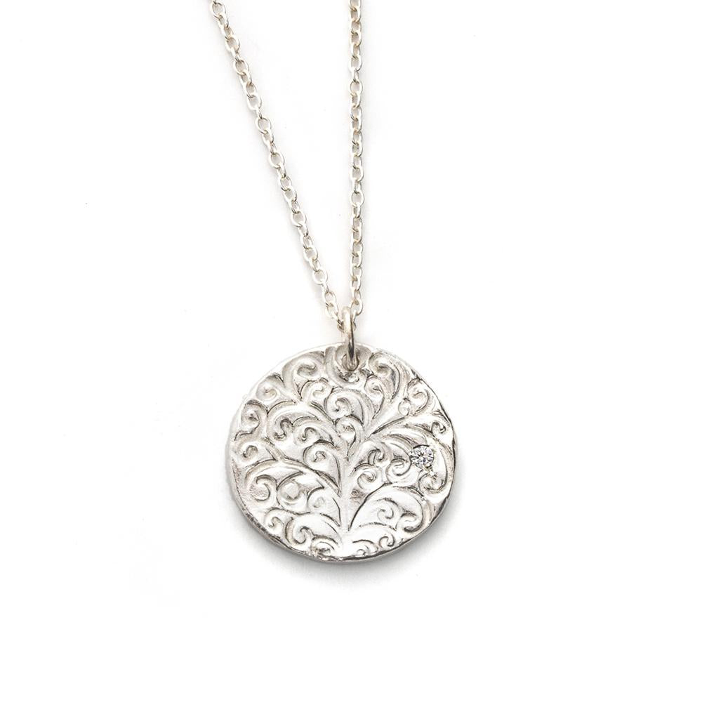 Tree of Life Charm Necklace Silver - MAS Designs