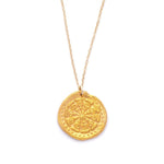 Wheel of Life Charm Necklace Gold - MAS Designs