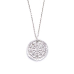 Wheel of Life Charm Necklace Silver - MAS Designs