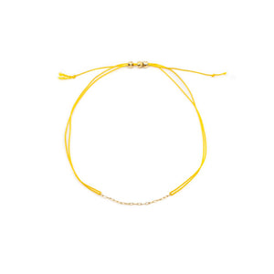 Yellow String Bracelet - MAS Designs