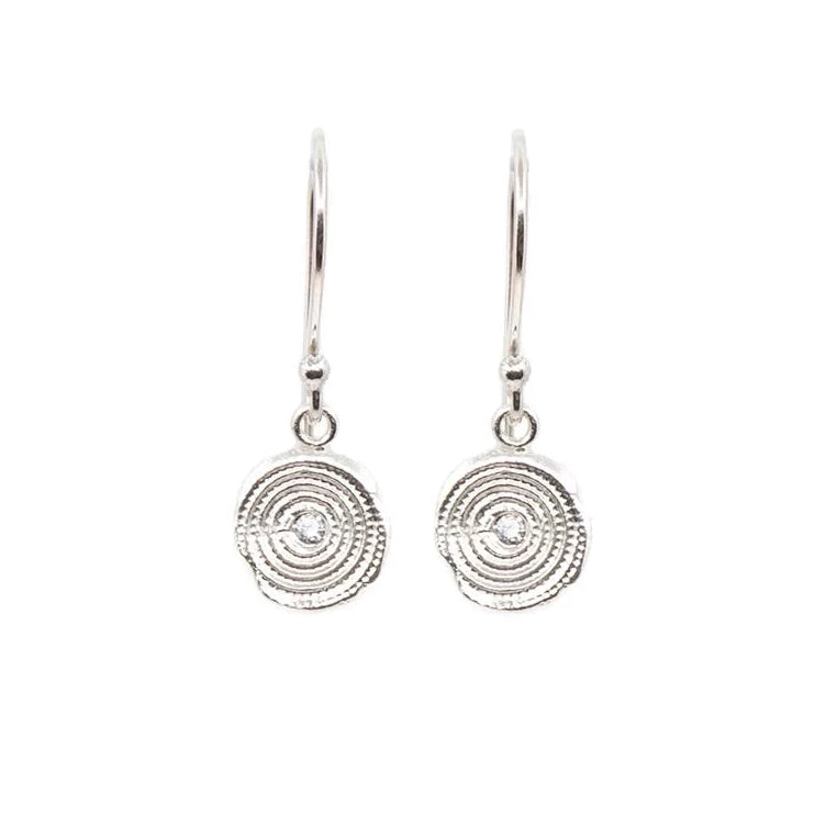 Zen Circles Hanging Earrings Silver - MAS Designs