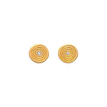 Zen Circles Diamond Stud Earrings Gold - MAS Designs